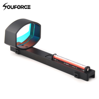 1x40 Optics Red Fiber Dot Sight Scope for Shotguns Rib Rail Base Mount Hunting Shooting