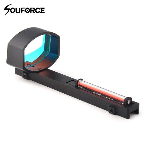 1x40 optica de fibra vermelha dot sight scope para espingardas rib trilho base montagem caca