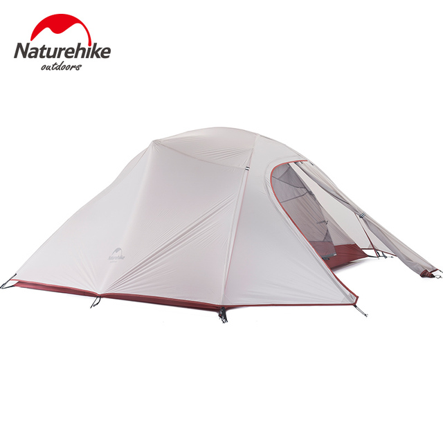 1.8KG Naturehike Tent 3 Person 20D Silicone Fabric Double Layers Rainproof Camping Tent NH Outdoor Tent 4Season