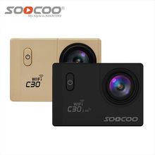 SOOCOO Действий Камеры C30/C30R Спорта Водонепроницаемый NTK96660 4 К Wifi 1080 P Подводная Камера 170 Градусов Регулируемый пульт дистанционного Cam