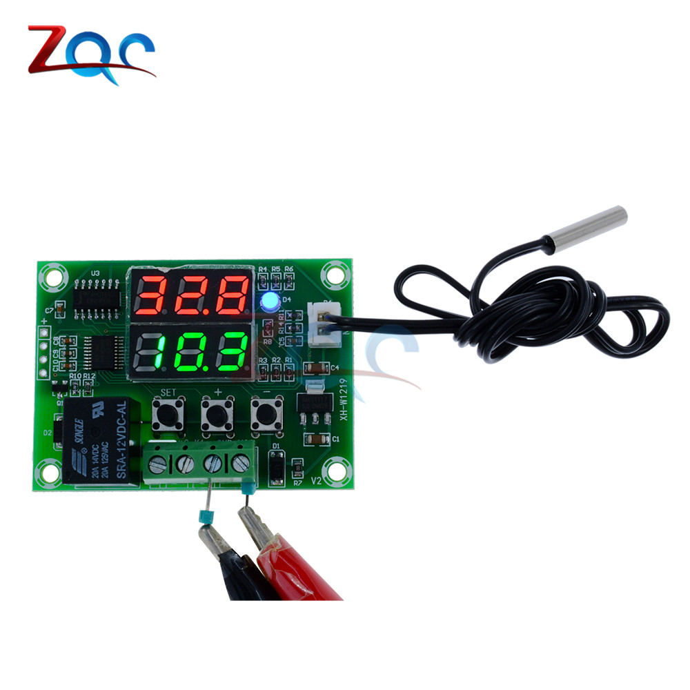Xh W1219 Dc 12v Dual Led Digital Display Thermostat Temperature How To Wire An Stc1000 Controller With 2 Heaters Reefing Regulator Switch Control Relay Ntc Sensor Module In Instruments From
