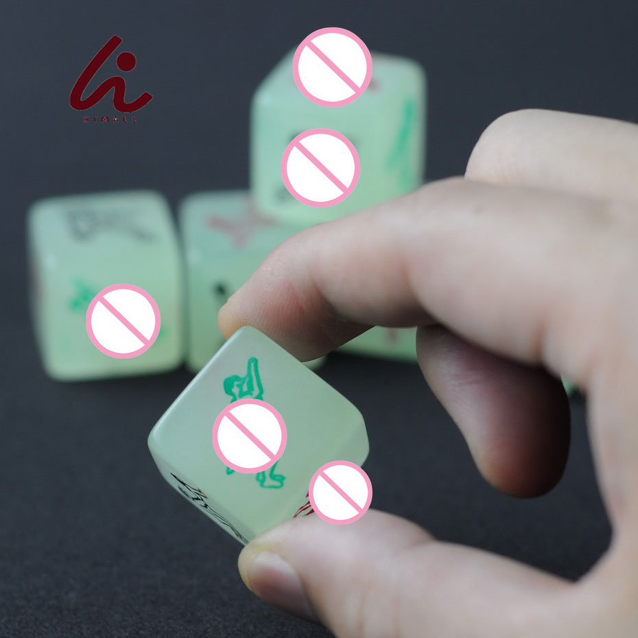 Glow In The Dark Erotic Dice, Night Lights Love Dice Of Sex Fun Toys, Noctilucent Sex Dice Of Adult Game 1Pcs/lot