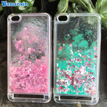 Silicone Case For Coque Xiaomi Redmi 5A case 7 6 6A 4A 4X Note Liquid Dynamic Glitter Soft cover