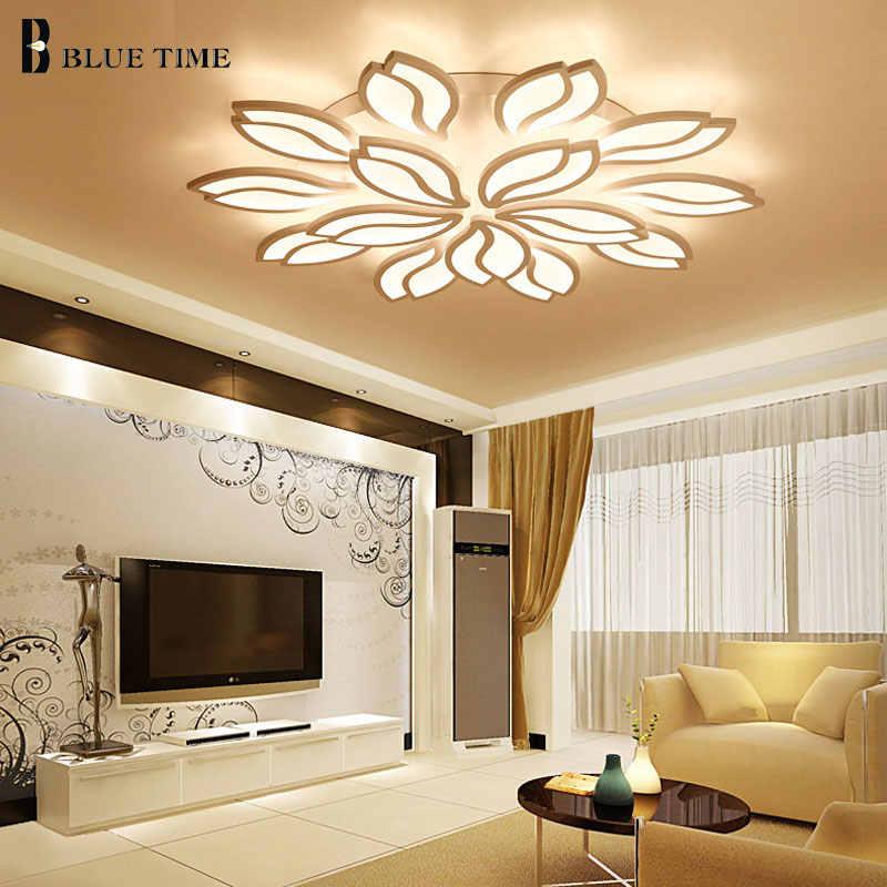 Светильники Современные светодиодные потолочные светильники для фойе гостиной спальни столовой люстры Светодиодные белые Люстра потолочная лампа светильники