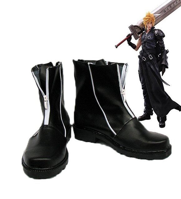 Final Fantasy VII FF7 Cloud Strife Cosplay Shoes Boots Custom Made