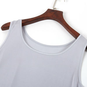Image 4 - Майка SuyaDream женская из 100% натурального шелка, однотонная Базовая безрукавка с круглым вырезом, весна лето 2020, черные, белые, серые