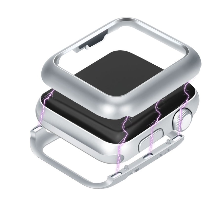 Magnetic Adsorption Metal Frame Protective Case For Apple Watch Series 1 2 3 38mm 42mm Luxury Cover Shell Bumper Built-in Magnet for iphone x case magnetic metal frame tempered glass back magnet flip cover