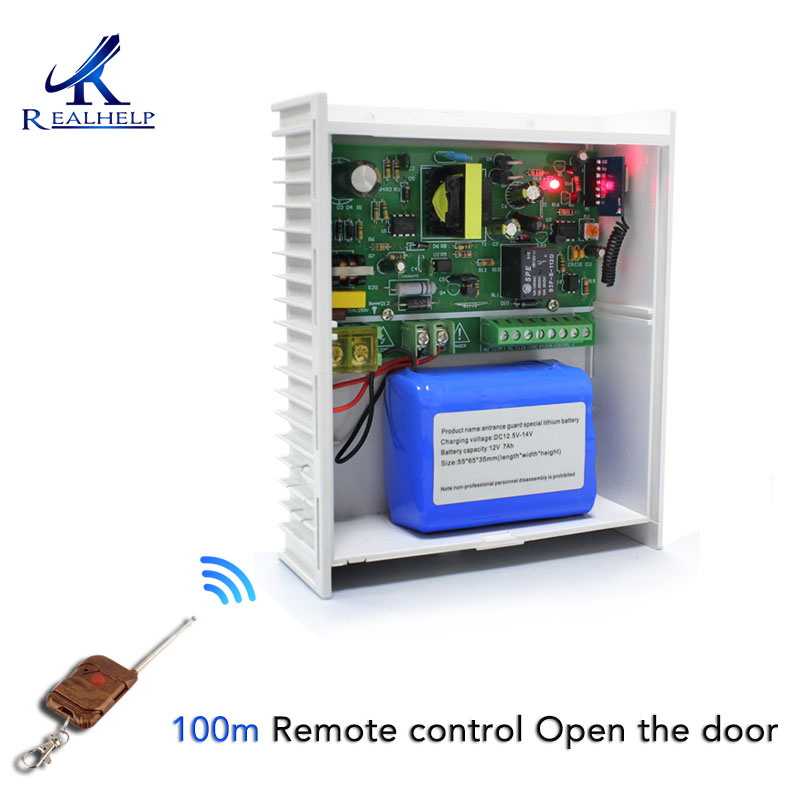DC 12V 2A 3A 5A Power Supply With Backup Battery Interface RFID Card Access Control System Switch Power Supply 100~220V
