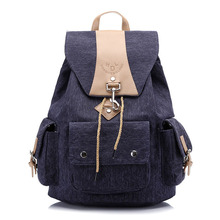 High Quality Washed Canvas Backpack Women Leisure Travel School Bags for Teenage Girls mochilas mujer 2018 bagpack