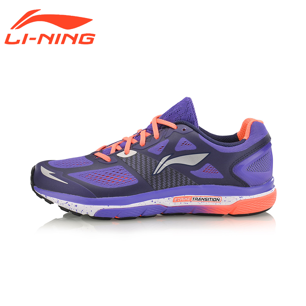 Li-Ning Women's Cushion Running Shoes Light Weight Textile&TPU Sneakers Breathable Sports Shoes LiNing ARHM076 li ning original men sonic v turner player edition basketball shoes li ning cloud cushion sneakers tpu sports shoes abam099