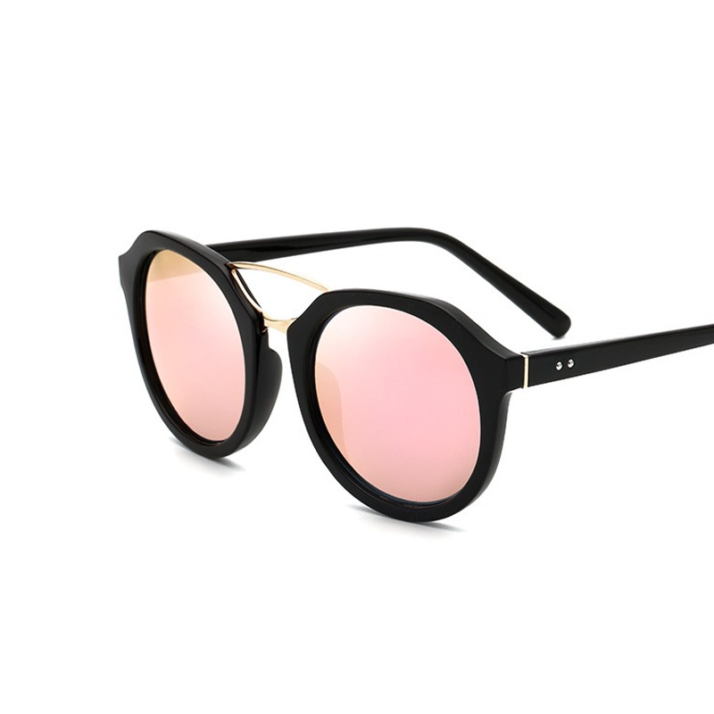 цены на Pink Vintage Mirror Female Women Cat Eye Sunglasses Brand Designer Rim-less Ladies Sun Glasses for Women Oculos Feminino Lunette