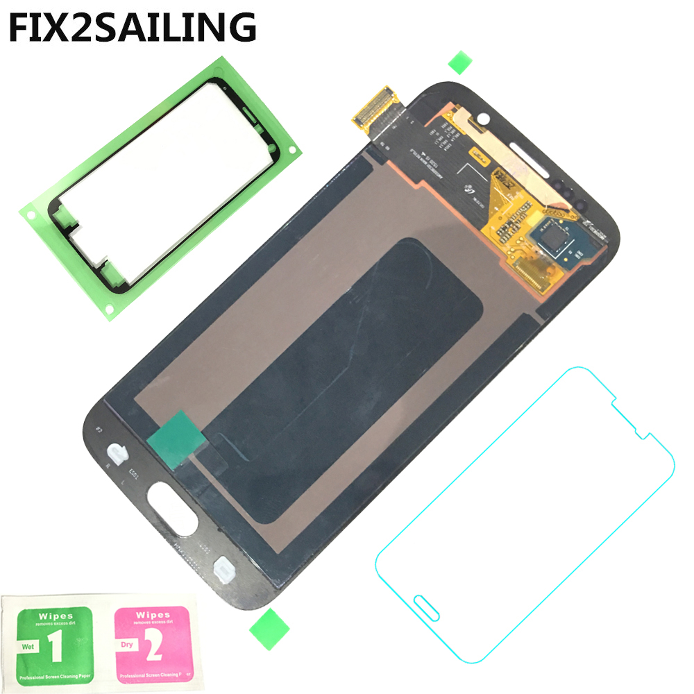 LCD For Samsung Galaxy S6 G920 G920F Display Super AMOLED 100% Tested Working Touch Screen Assembly With Tempered Glass