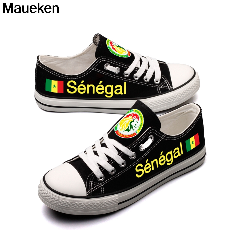 Hot Printed 2018 men women unisex Senegal diy Shoes for fans gift size 35-44 0426-14 ...