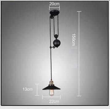 LukLoy Лофт подвесной светильник ретро из кованого железа винтажные люстры Промышленный регулируемый шкив чердак подвесные лампы подвесной светильник