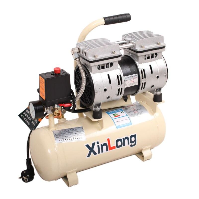 NOVO Silencioso Oil-Free Compressor de Ar, compressor para aerógrafo, para OCA Laminador Bolha Removedor/Vácuo Separador LCD 550 W/8L Tanque