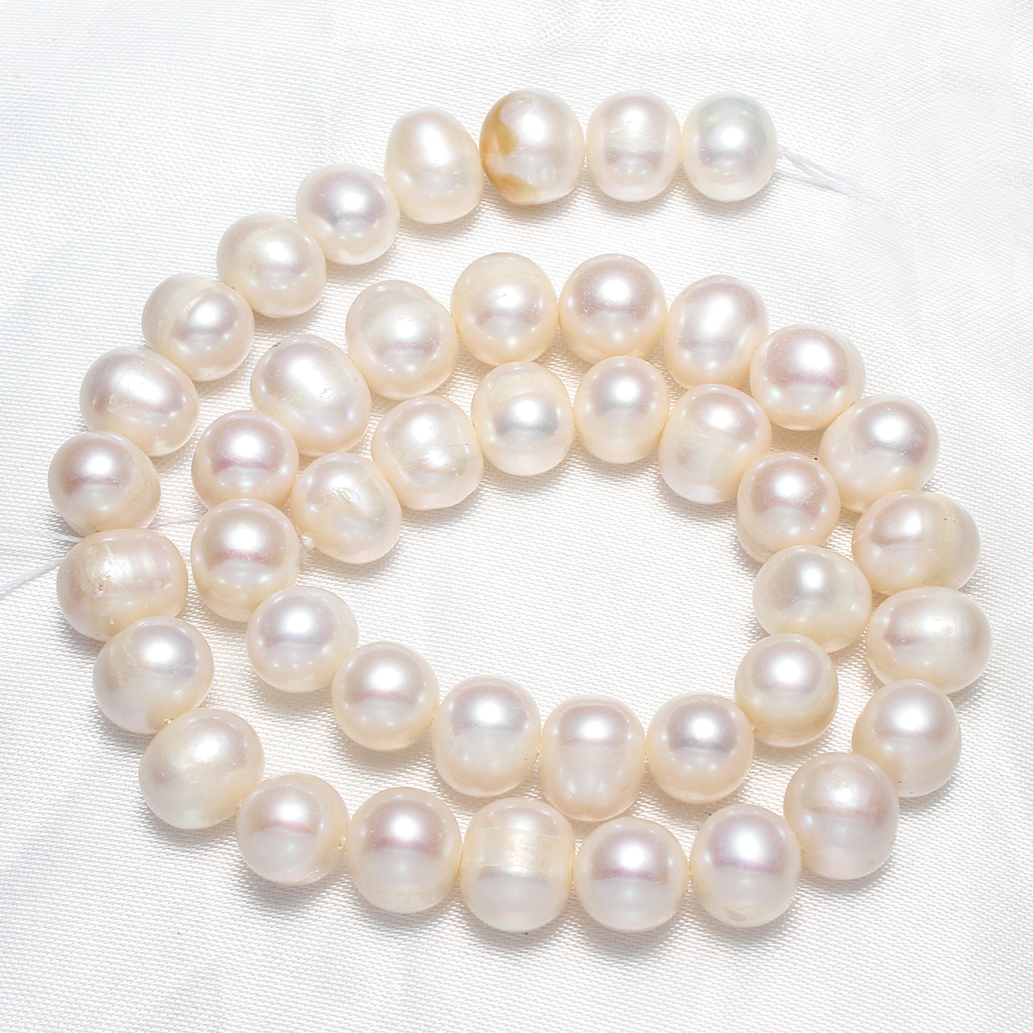 Cultured Round Freshwater Pearl Beads Natural 9-10mm Approx 0.8mm Sold Per Approx 14.5 Inch Approx 15.5 Inch Strand
