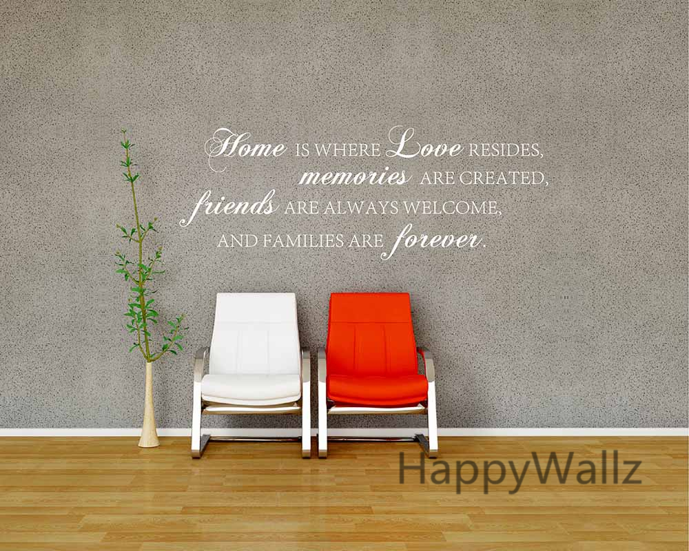 Home Love Memories Friends Forever Family Quote Wall Stickers Decorative  DIY Family Home Lettering Quote Wall Art Decals Q136 In Wall Stickers From  Home ...