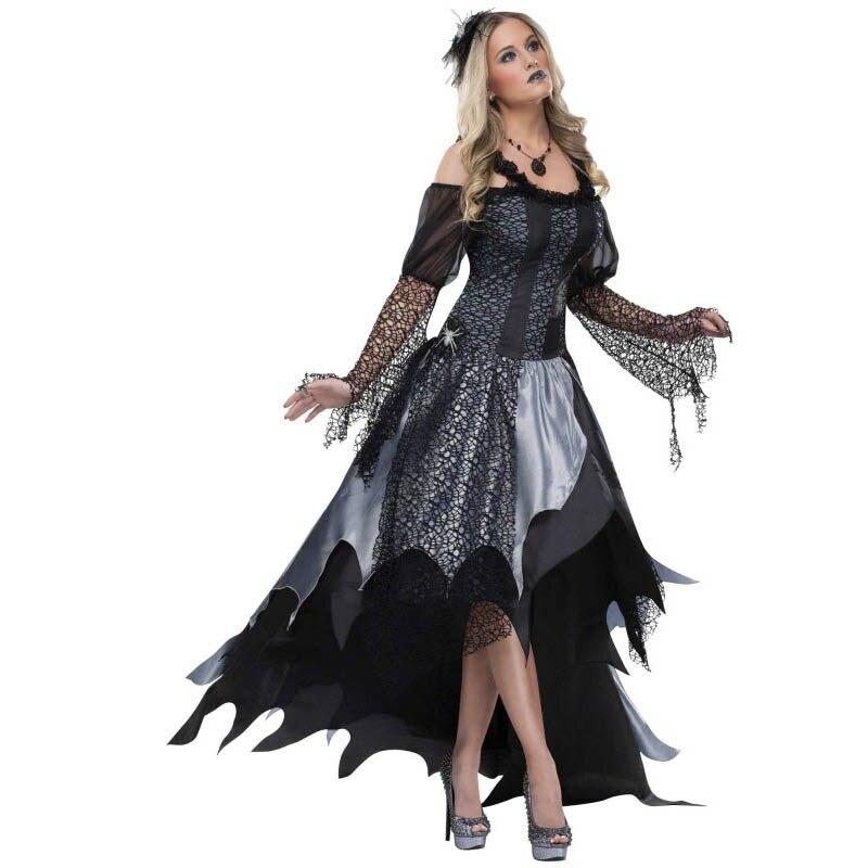 ฮัลโลวีนชุดแมงมุมราชินีเสน่ห์ผู้ใหญ่ L15534