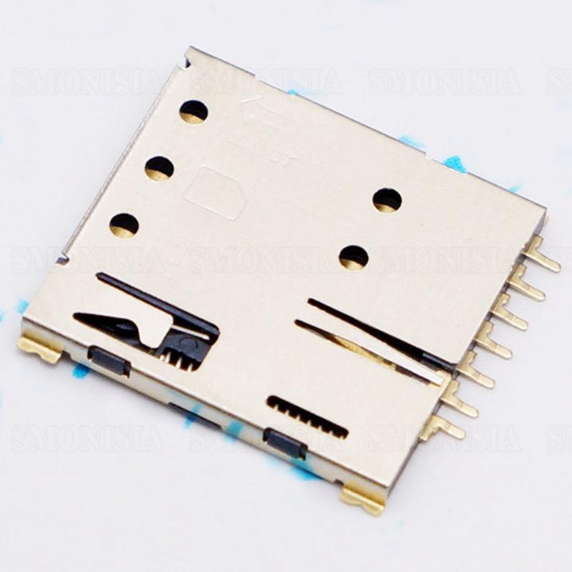 Nano SIM Micro Card Slot Gold Plated 7P Self Push Flip Connector