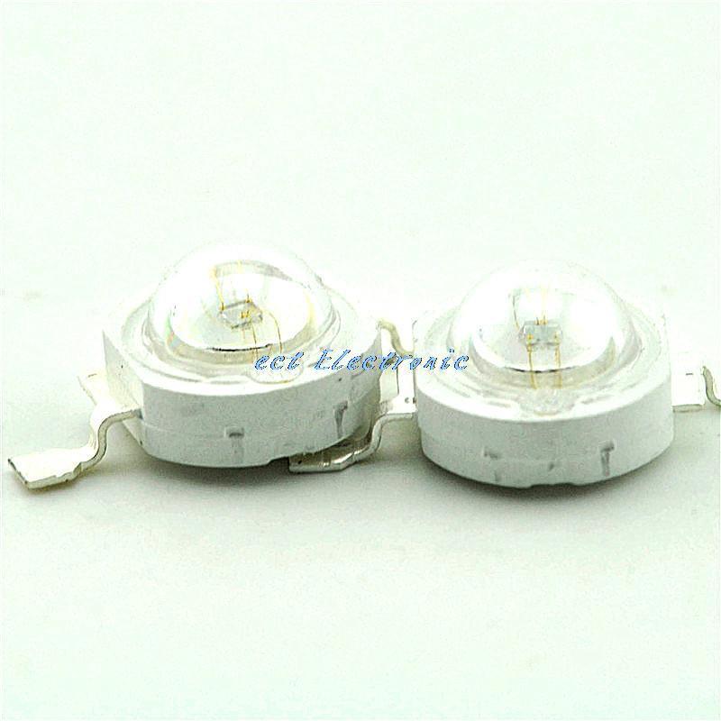1W high power LED lamp beads astigmatism blue light blue beads LED 15-25LM (10pcs)