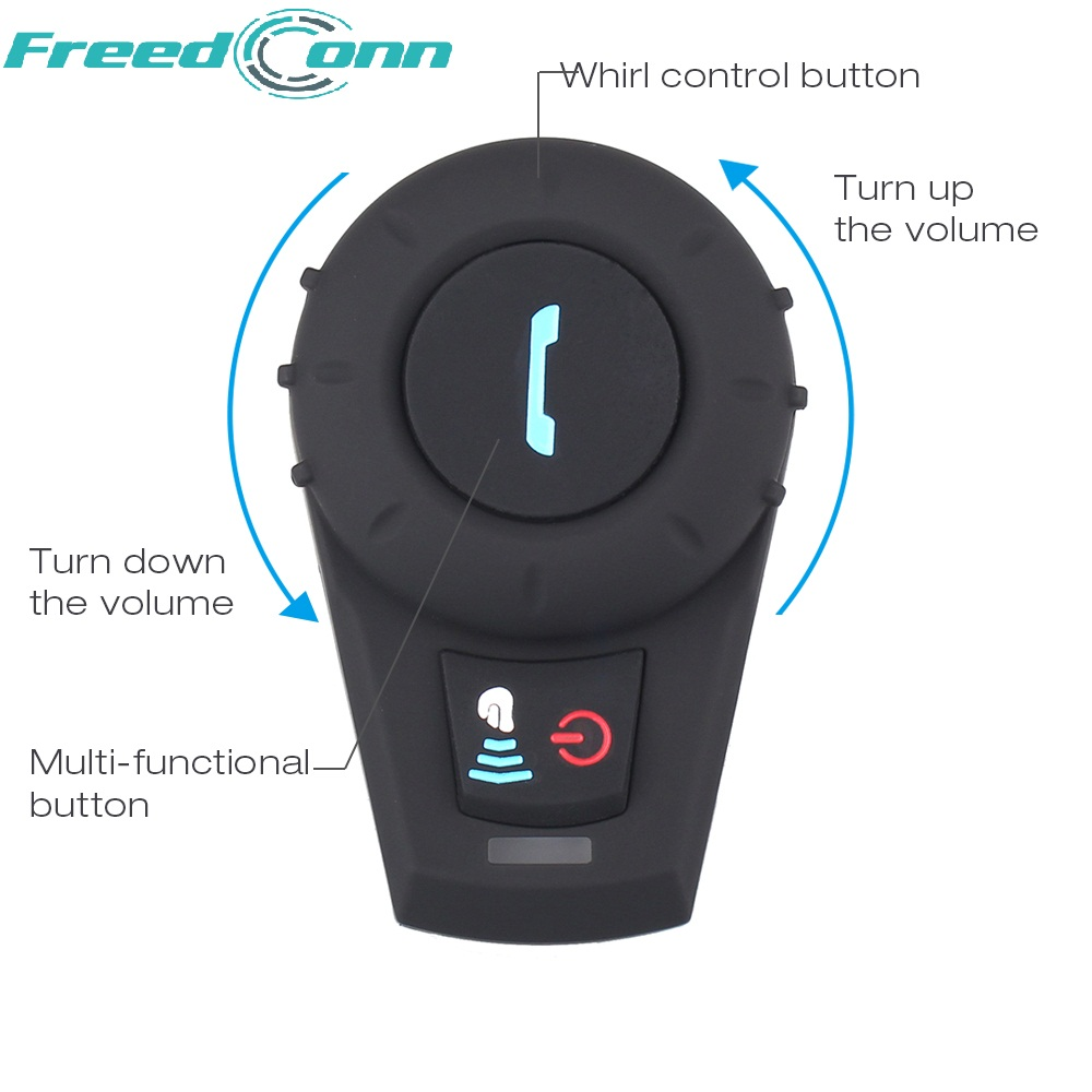 цена на FreedConn motorcycle helmet bluetooth intercom helmet bluetooth headset BT Interphone intercomunicador moto FM Radio