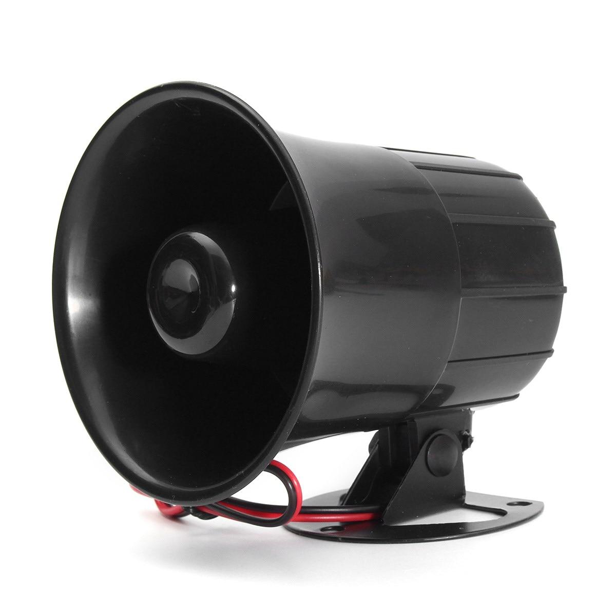 12V 15W Electric Car Truck Alarm Siren Horn Loud Speaker Auto Sound Universal Wehicle Car Motor Motorcycles Speaker Horns