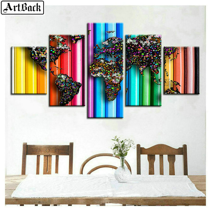 5 spelled diamond painting landscape cross stitched square diamond diamond embroidery home decoration painting in Diamond Painting Cross Stitch from Home Garden