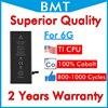 BMT オリジナル 10 個高級品質のバッテリー iPhone 6 6 グラム 1810mAh iOS 13 交換 100% コバルト携帯 + ILC 技術