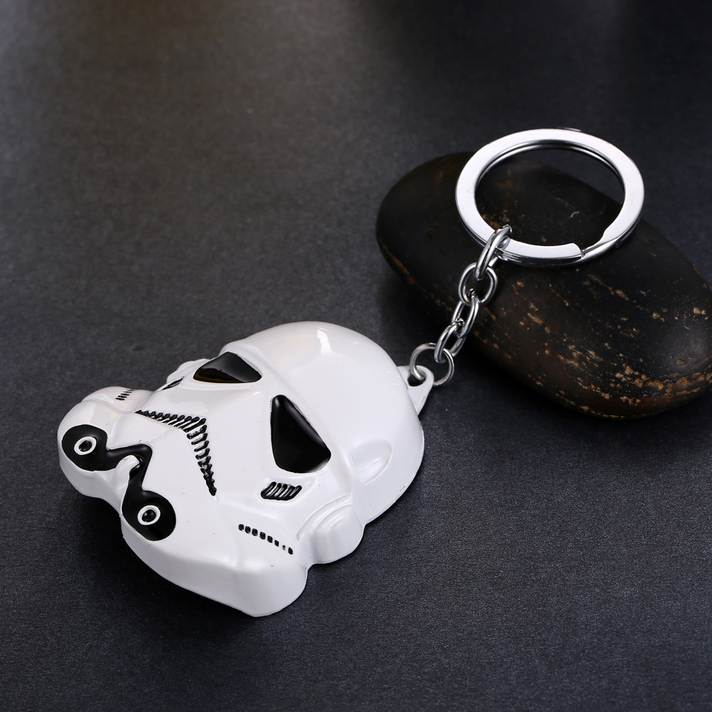 MS JEWELS Movie Fans Gifts Jewelry Star Wars Keychain Stormtrooper Mask Metal Key Rings Present Chaveiro 3 Colors
