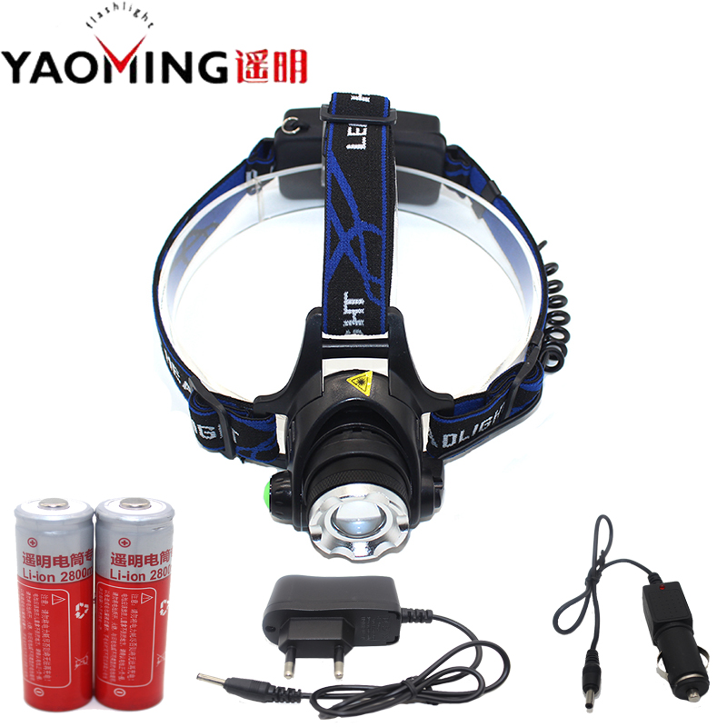 CREE XM-L T6 Led Headlamp Headlight 3000LM Rechargeable Tactical Led Flashlight Lantern Head Lamp Light + 18650 Battery Charger led headlamp cree xm l t6 led 2000lm rechargeable head lamps headlights lamp lights use 18650 battery ac charger head light