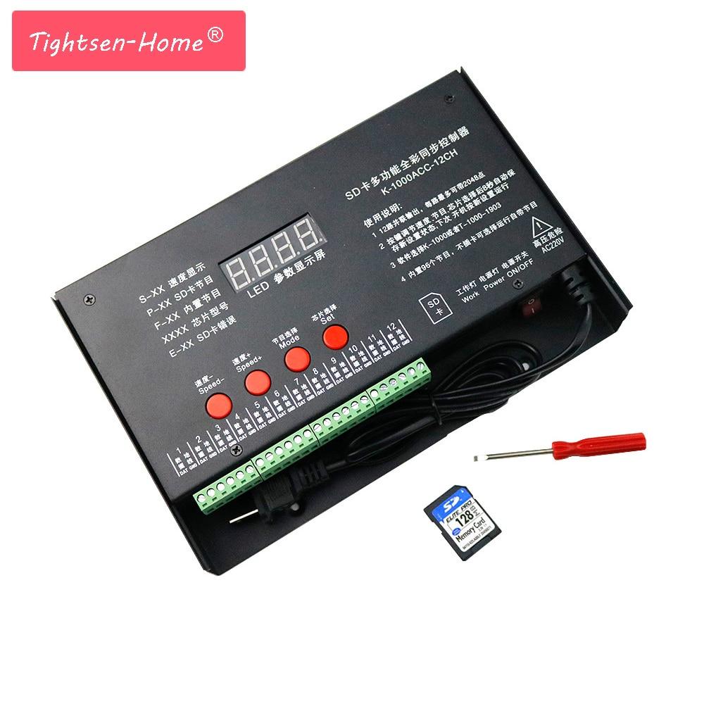 12CH*2048Pixels K1000 K-1000ACC 220V /110V SD Card Pixel Program Controller for WS2801 WS2812B WS2811 LPD8806 RGB LED Strip DC5V12CH*2048Pixels K1000 K-1000ACC 220V /110V SD Card Pixel Program Controller for WS2801 WS2812B WS2811 LPD8806 RGB LED Strip DC5V