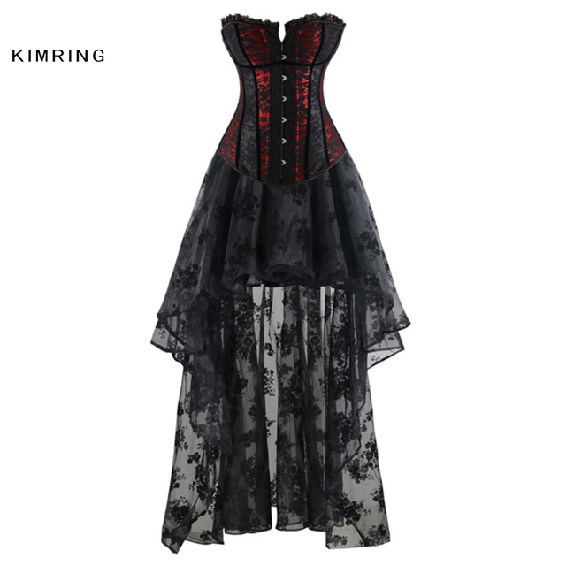 c94e00157ad9c Kimring Vintage Gothic Waist Control Corsets Dress Sexy Body Bustier Overbust  Corset Burlesque Corset Top Lace up Back Corsets