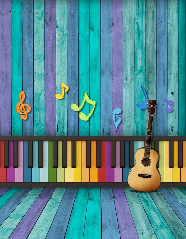 Ambicioso 5x7ft Vintage Madera Pared Piano Teclado Música Guitarra Madera Suelo Personalizado Foto Fondos Estudio Vinilo 150 Cm X 220 Cm Ni Demasiado Duro Ni Demasiado Suave