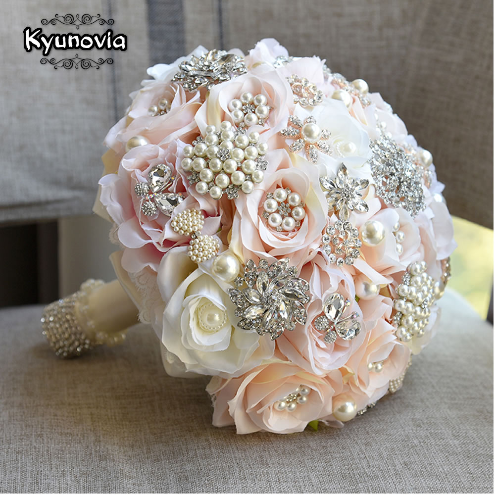 Kyunovia round blush bouquet teardrop butterfly brooches bouquet kyunovia round blush bouquet teardrop butterfly brooches bouquet alternative cascading bouquets crystal wedding flowers fe87 in wedding bouquets from izmirmasajfo