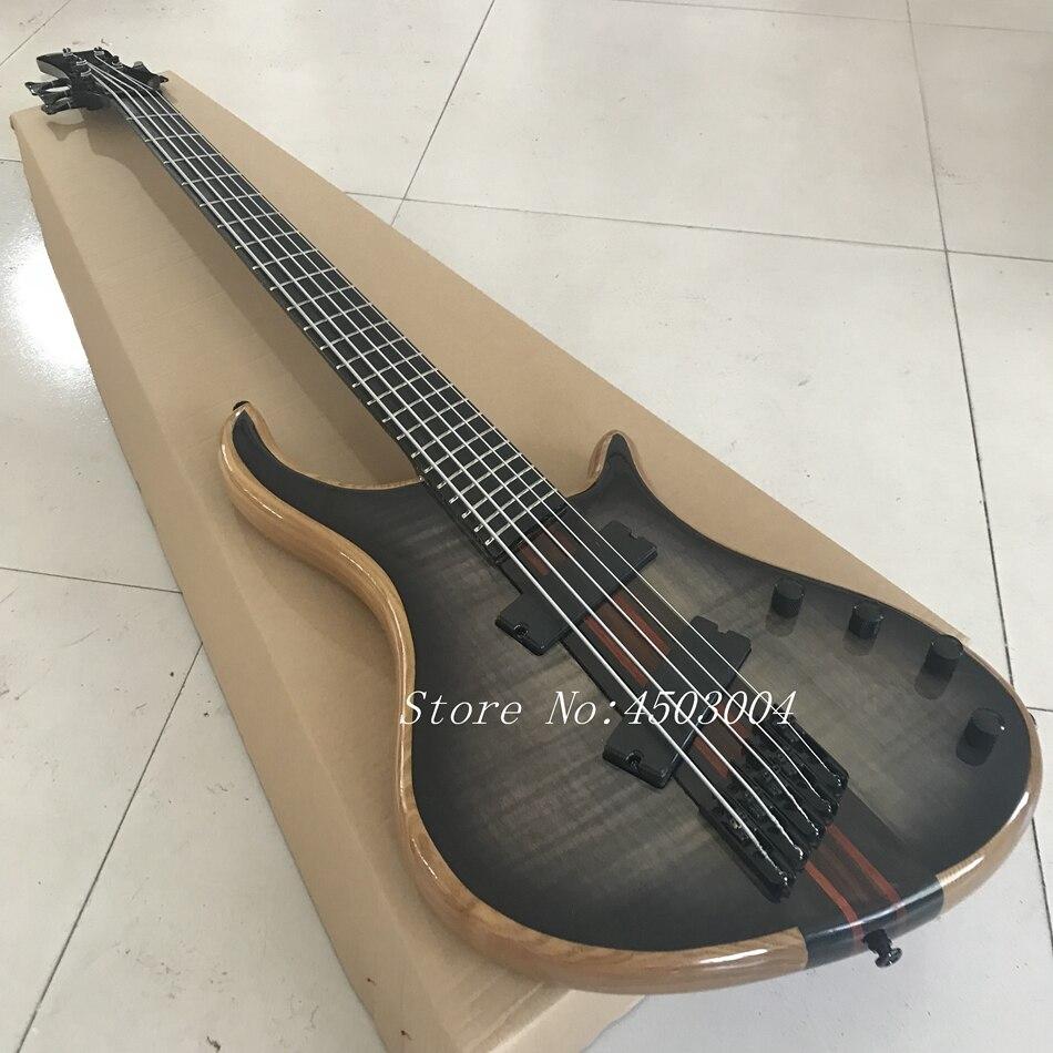 2018 nouveau style de haute qualité personnalisé 5 cordes basse guitare, touche Palissandre, livraison gratuite