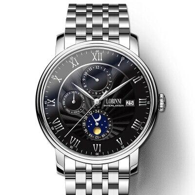 Switzerland LOBINNI Men Watches Luxury Brand wrist watch Seagull Watch Men Auto Mechanical Sapphire relogio masculino L1023-2 | Fotoflaco.net
