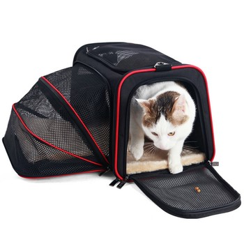 Expandable Pet Carrier For Small Dogs Cats Soft Sided Crate Airline Approved Kennel Car Travel Bag Multifunction Pet Carrier 2