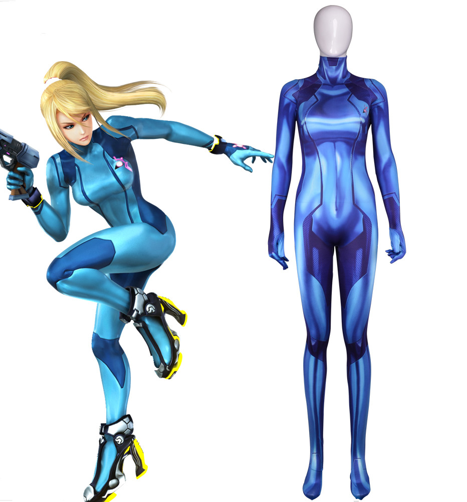 Us 33 99 15 Off Metroid Samus Aran Cosplay Costumes 3d Printed Zentai Suit Halloween Catsuit In Zentai From Novelty Special Use On Aliexpress