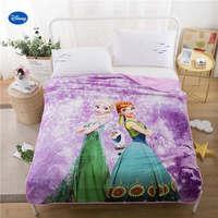 סגול דיסני Elsa ואנה מכסה כותנה מצעי שמיכת שמיכות קיץ ילדים בנות עיצוב חדר השינה של ילד 150*200 ס