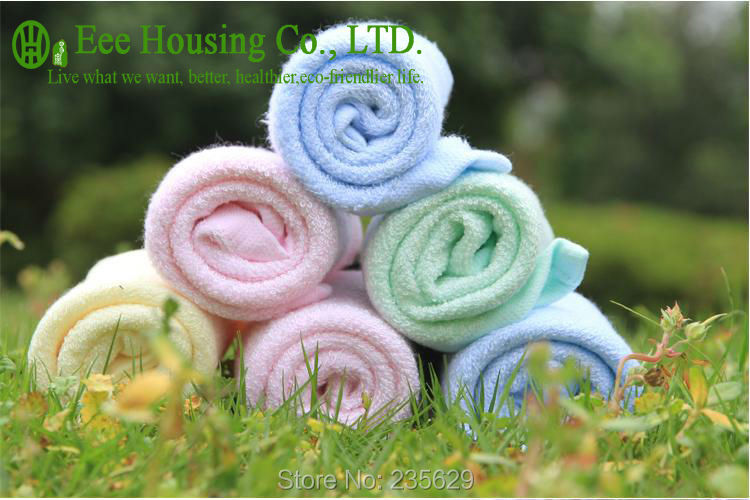 Free Shipping,Square Bamboo Fiber Hand Towel,Eco-friendly Towel,anti-bacterial Bamboo Towel,Sent Randomly