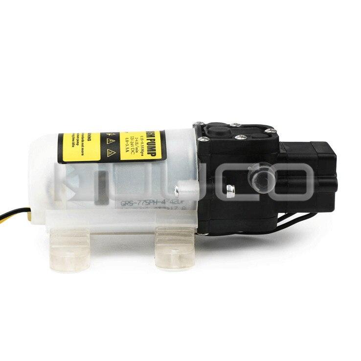 Pompe à diaphragme 60W DC 12V 5A pompe auto-amorçante Micro diaphragme électrique commutateur automatique pompe à eau haute pression - 4