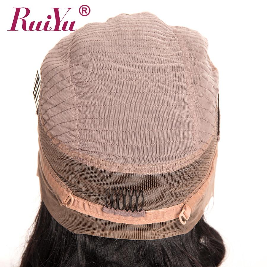 360 Spets Frontpärra Pre Plockad Med Barnhår RUIYU Brasiliana Paryk - Mänskligt hår (svart) - Foto 5
