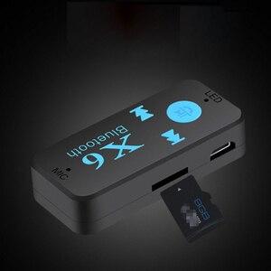 Image 1 - Беспроводной мини адаптер с Bluetooth приемником, 3,5 мм разъем AUX для автомобиля, портативный комплект для автомобиля, TF карта, Mp3, Музыкальный ресивер