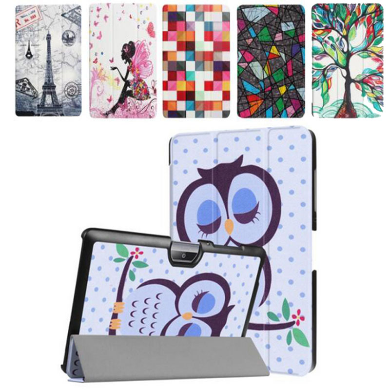 New Slim For Acer B3-A30 Case Painted Tower Girl Flip Stand PU Funda Case For Acer Iconia Tab 10 A3-A40 B3-A30 Cover slim print case for acer iconia tab 10 a3 a40 one 10 b3 a30 10 1 inch tablet pu leather case folding stand cover screen film pen