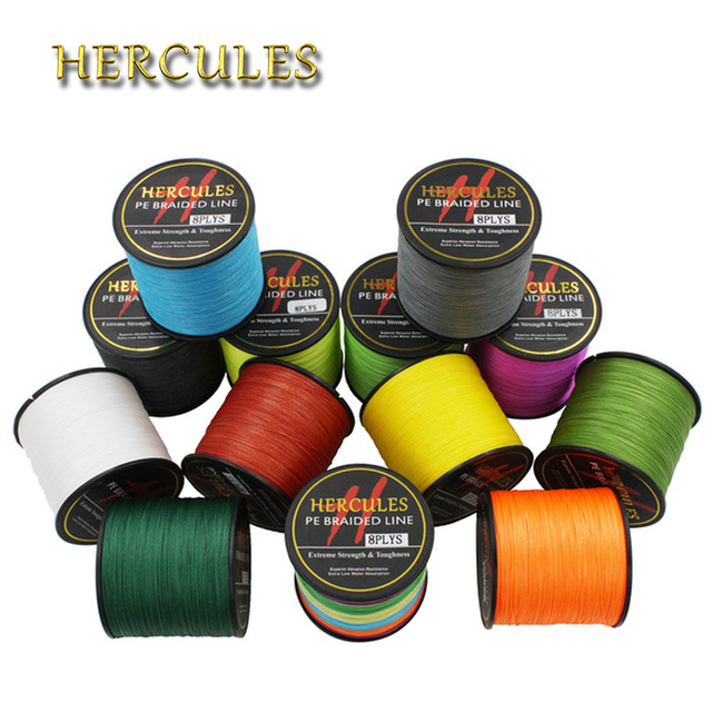 Hercules 10LB-300LB 500M Hercules100% PE Extreme 8 Strands Braided Fishing Line Sea Saltwater Fishing Weave