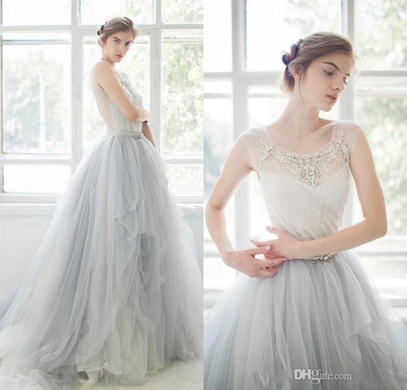 Popular light blue wedding gown buy cheap light blue for Light blue beach wedding dress