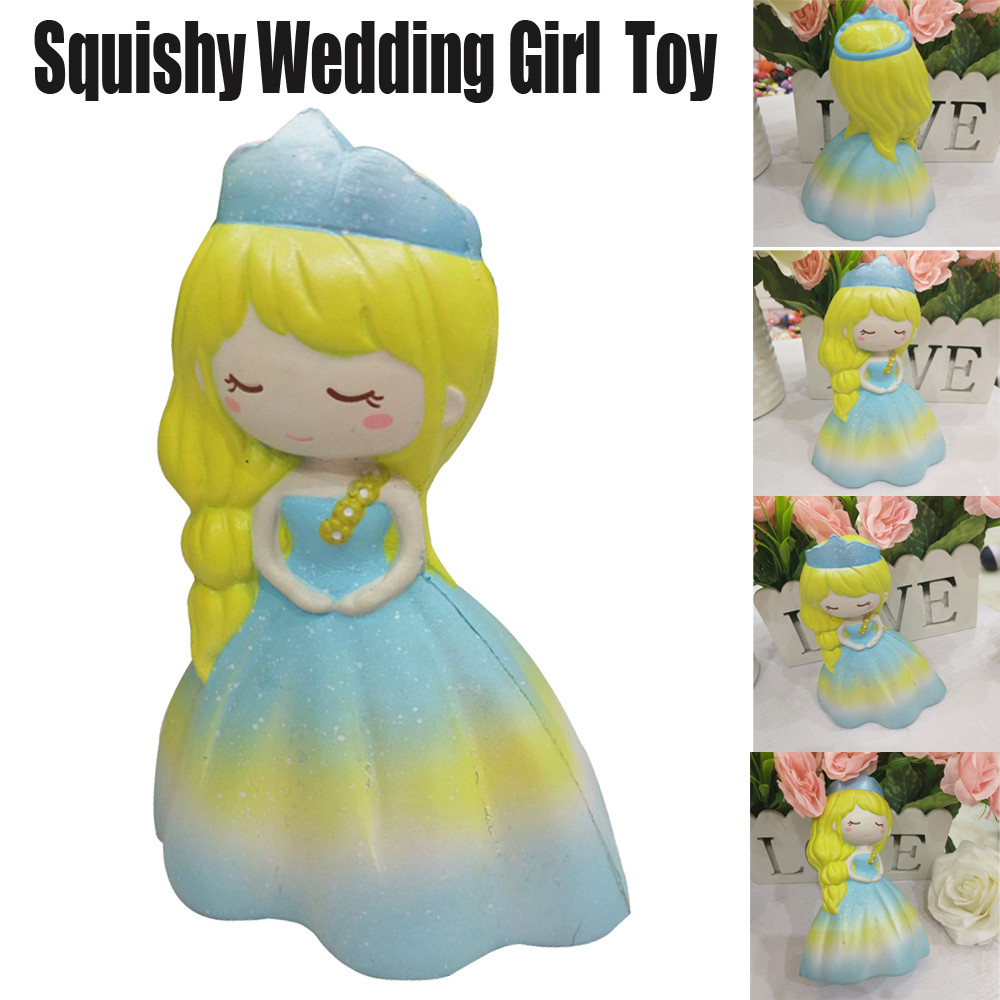 Cute Squishy Toys Stress Reliever Squeeze Wedding Girl Kawaii Jumbo Slow Rising Scented Relieve Stress Fun Toy For Adults JA09b
