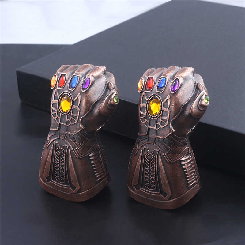 Marvel Avengers Thanos Găng Tay Móc Khóa Mặt Dây Chuyền Dụng Cụ Mở Nắp Hộp Móc Chìa Khóa Mới Sáng Tạo Chìa Khóa Thời Trang Nhẫn Trang Sức Thả Vận Chuyển