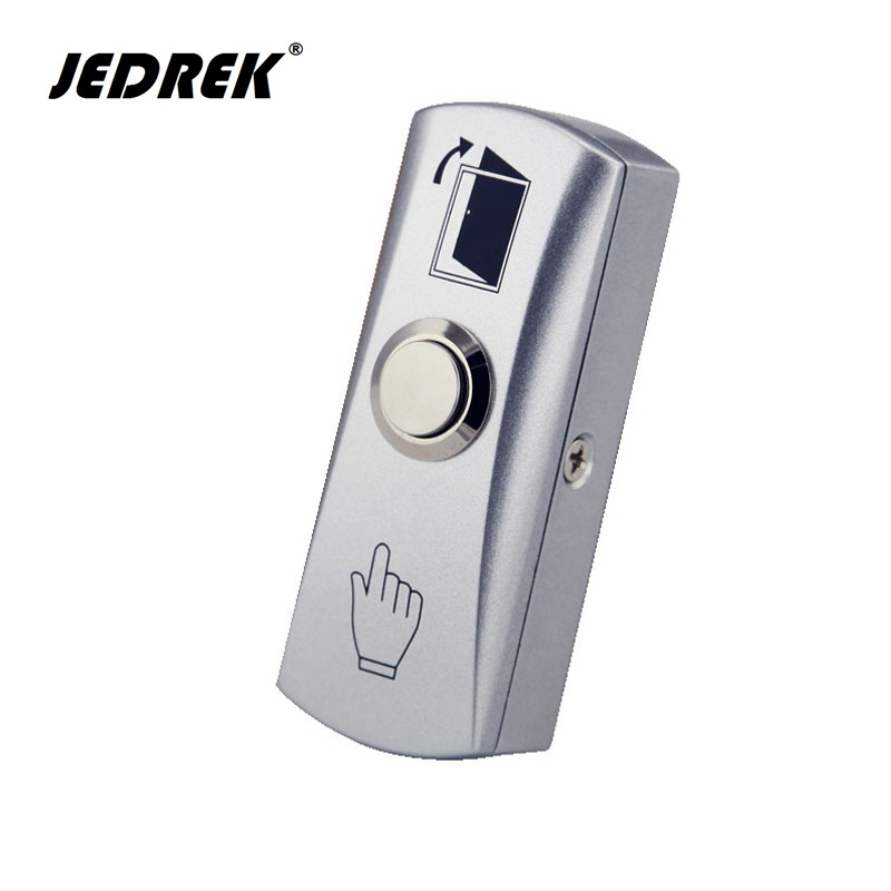 цена на Steel Door Exit Release Push Button Home Switch Panel Part of Access Control