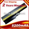5200 mAh de la batería para IBM Lenovo ThinkPad R60 R60 R61 R61e R61i T60 T60p T61 T61p R500 T500 W500 SL500 SL400 SL300